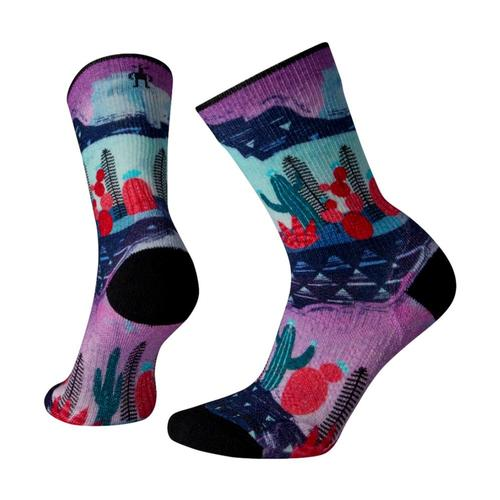 Smartwool Women's Outdoor Light Print Crew Socks Oasis_d13