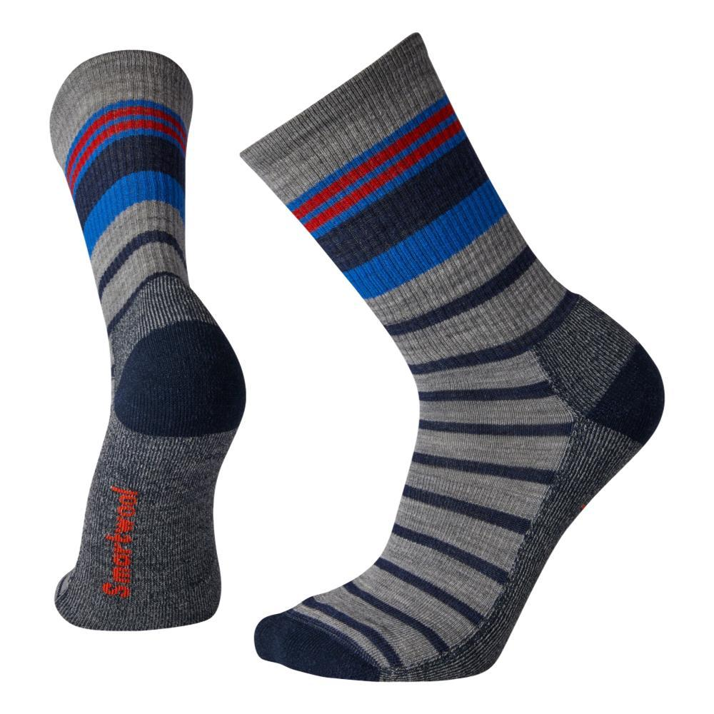 Smartwool Unisex Striped Light Hiking Crew Socks LTGRAY_039