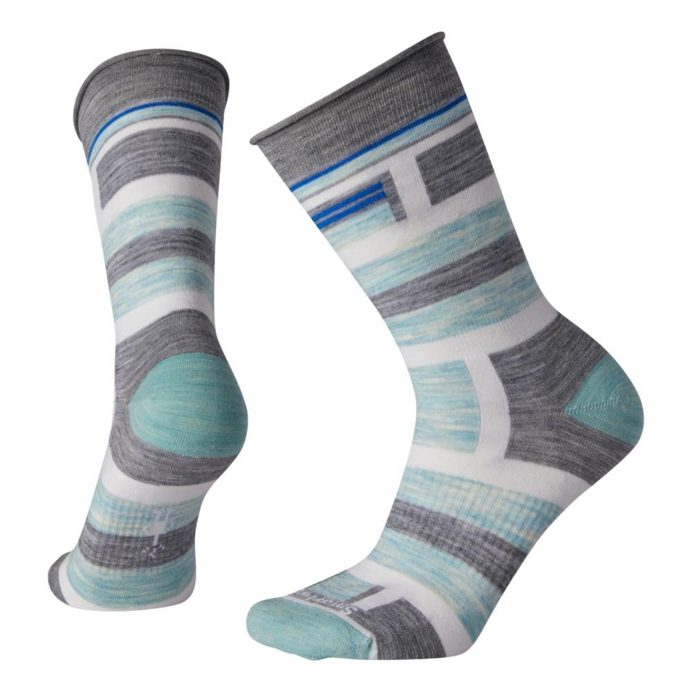 Smartwool Women's Non-Binding Pressure Free Striped Crew Socks LTGRAY_039