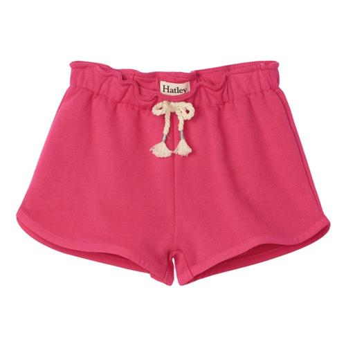 Hatley Girls Fuchsia Paper Bag Shorts Pinkyrw