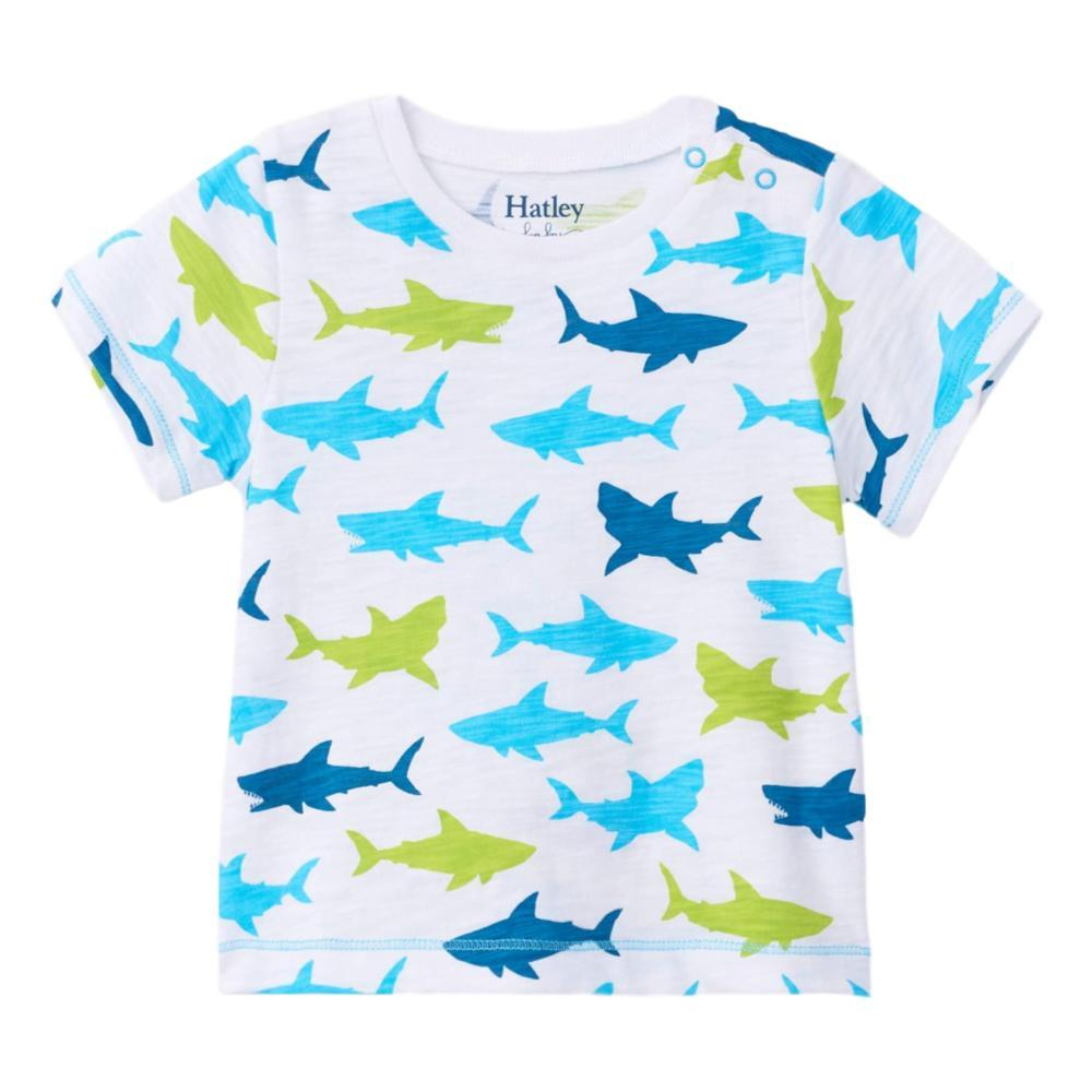Hatley Great White Sharks Baby Graphic Tee WHITE