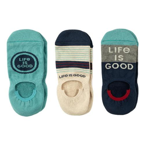 Life is Good Cushioned Men's No-Show Socks 3-Pack Lig