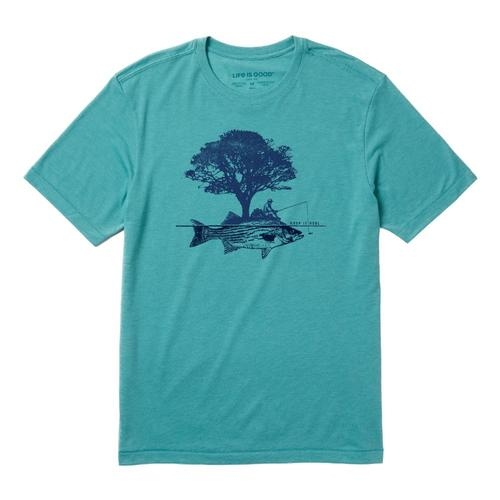 Life is Good Men's Tree Fish Cool Tee Harborblue