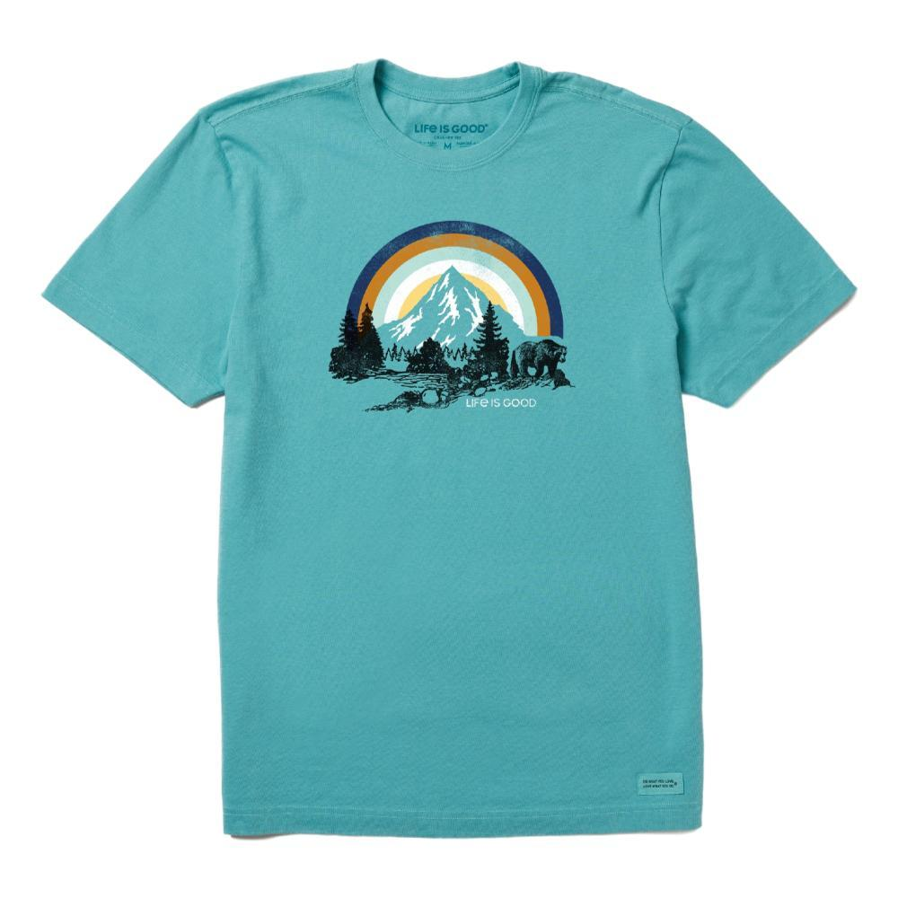 Life is Good Men's Retro Bear Landscape Crusher Tee HARBORBLUE