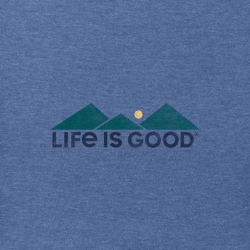 Life is Good Men's Retro Camp Crusher Tee Vintagblue