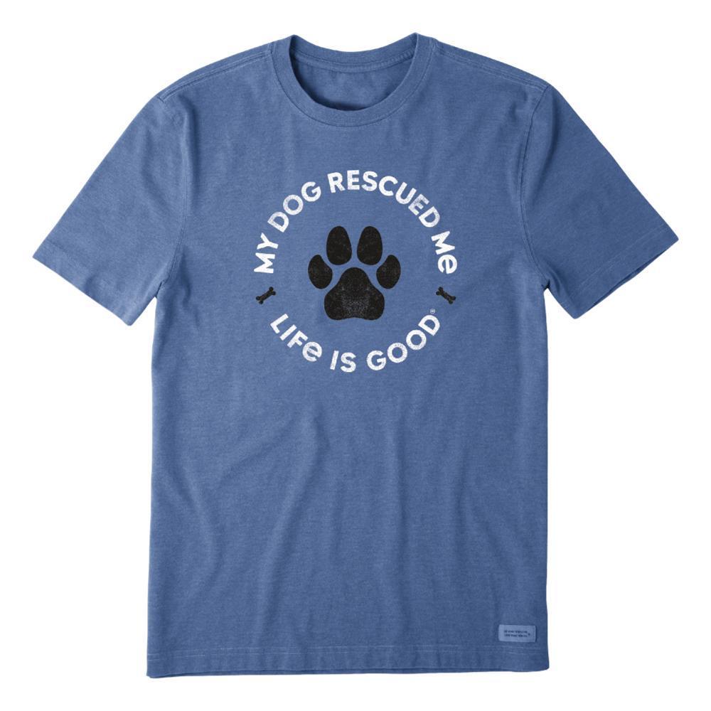 Life is Good Men's Rescue Bones Crusher Tee VINTAGBLUE
