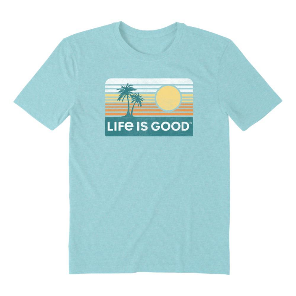 Life is Good Men's Retro Palmsun Cool Tee BEACHBLUE