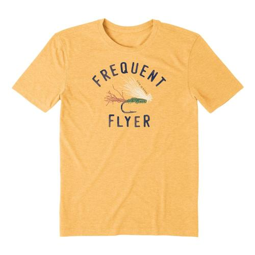 Life is Good Men's Frequent Flyer Cool Tee Bajayellow