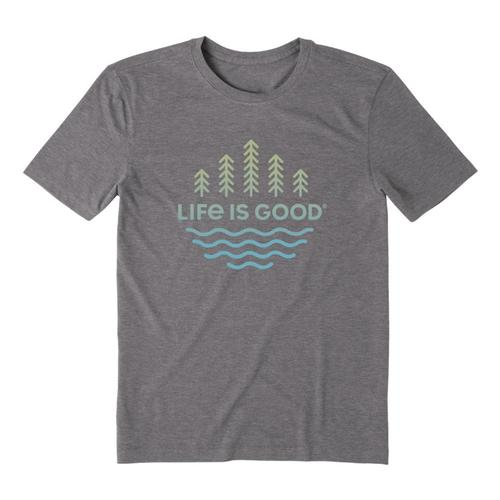 Life is Good Men's Trees and Water Cool Tee Slategray