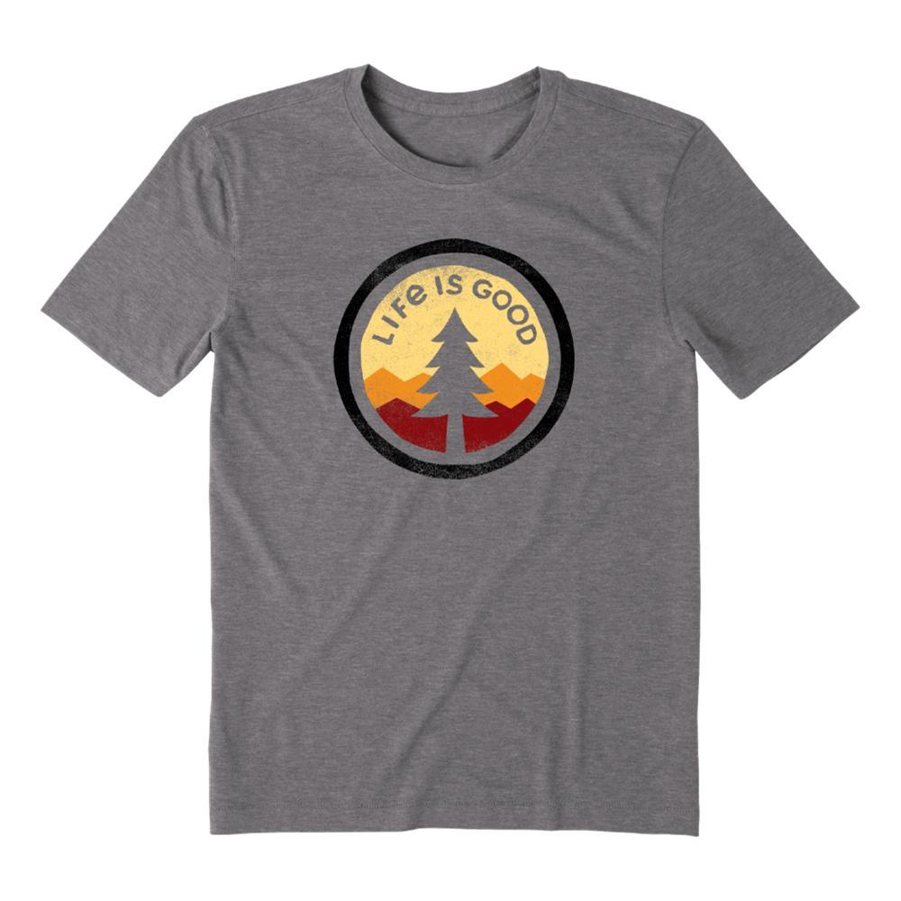 Life is Good Men's Tree Coin Cool Tee SLATEGRAY