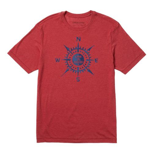 Life is Good Men's Compass Cool Tee Fadedred