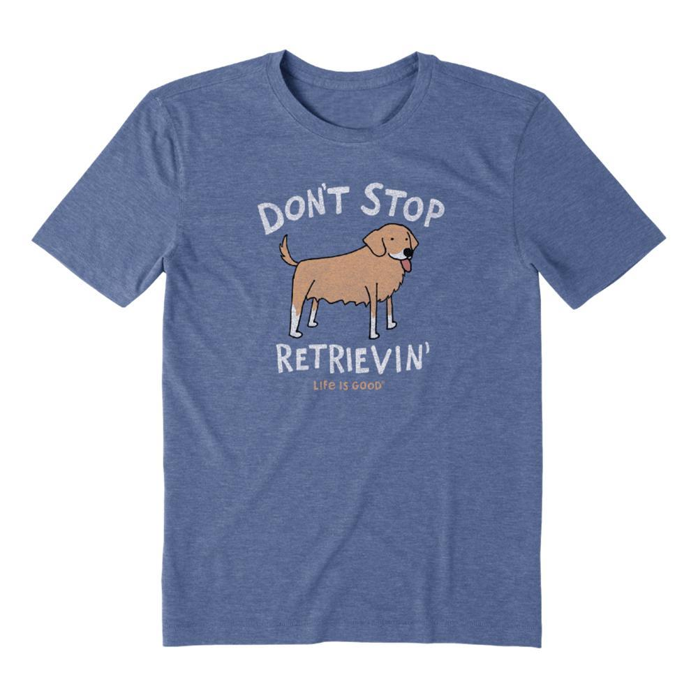 Life is Good Men's Don't Stop Retrievin' Cool Tee VINTAGBLUE