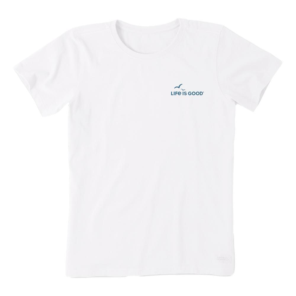 Life is Good Women's Ocean Waves Crusher Tee CLOUDWHITE
