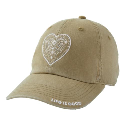 Life is Good Heart Chill Cap Fatiggreen