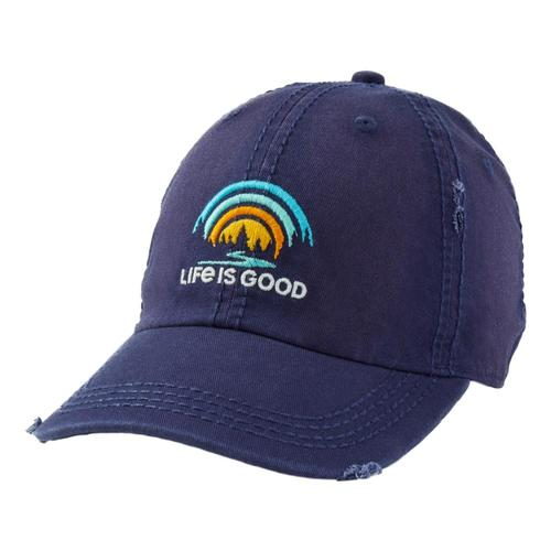 Life is Good Forest Rainbow Sunwashed Chill Cap Darkstblue