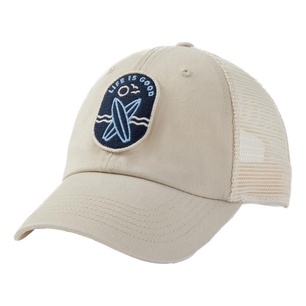 Life is Good LIG Surfboards Patch Soft Mesh Back Cap BONE