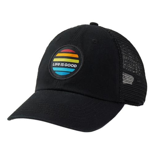 Life is Good LIG Sunrise Patch Soft Mesh Back Cap Jetblack