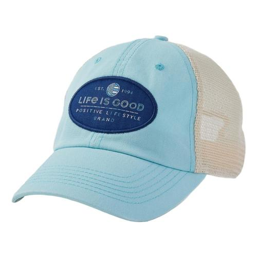 Life is Good LIG Positive Lifestyle Soft Mesh Back Cap Beachblue