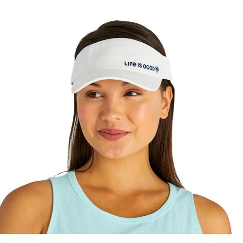 Life is Good LIG Heart Sunwashed Visor Cloudwhite