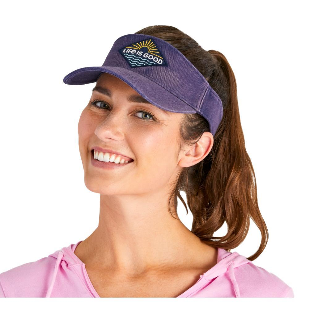 Life is Good LIG Sunrise Patch Sunwashed Visor DARKSTBLUE