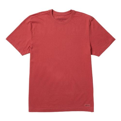Life is Good Men's Solid Crusher Tee Fadedred