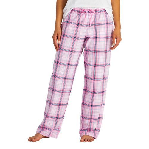 Life is Good Women's Happy Pink Plaid Classic Sleep Pants Pinkplaid