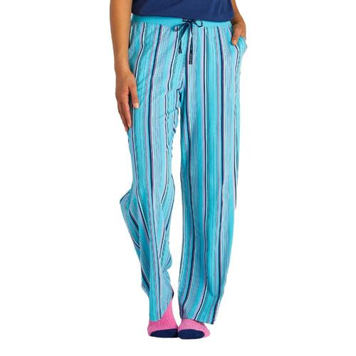 Life is Good Women's Coastal Blue Stripe Snuggle Up Sleep Pants Bluestripe