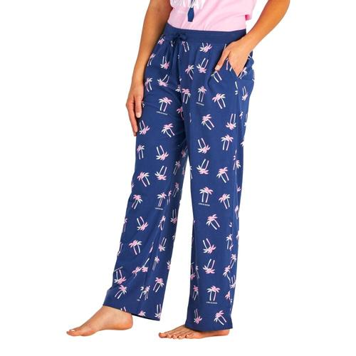 Life is Good Women's Palm Print Snuggle Up Sleep Pants Bluepalms