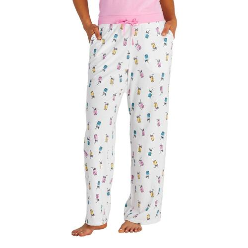 Life is Good Women's Refreshing Jars Print Snuggle Up Sleep Pants Whitejars