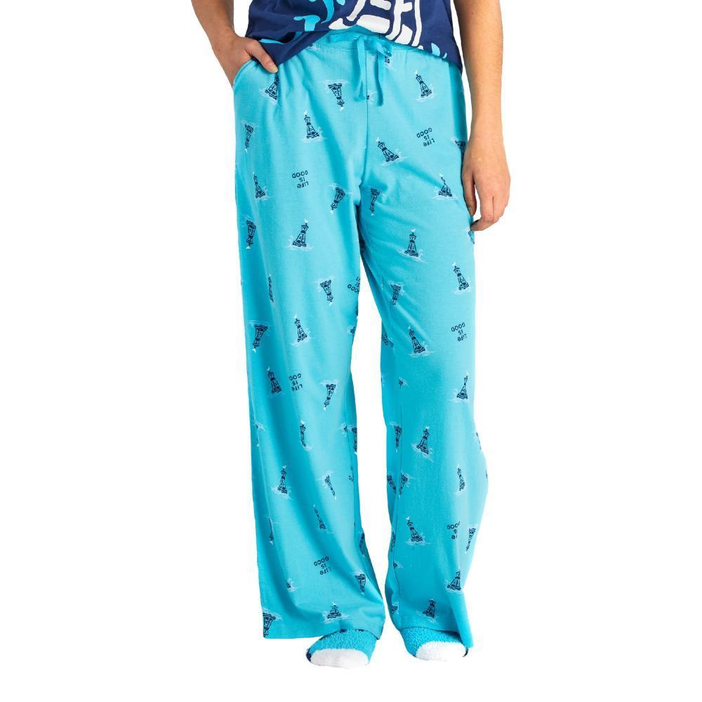 Life is Good Women's Buoy Print Snuggle Up Sleep Pants BLUEBUOY