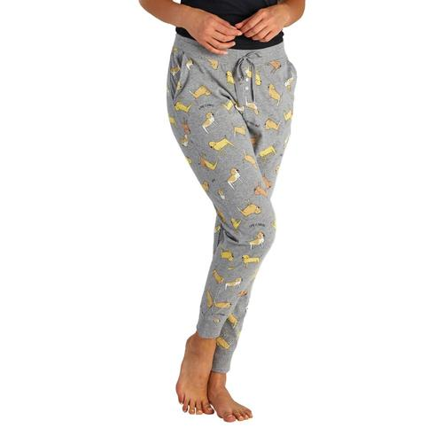 Life is Good Women's LIG Dog Print Snuggle Up Sleep Joggers Graydogs