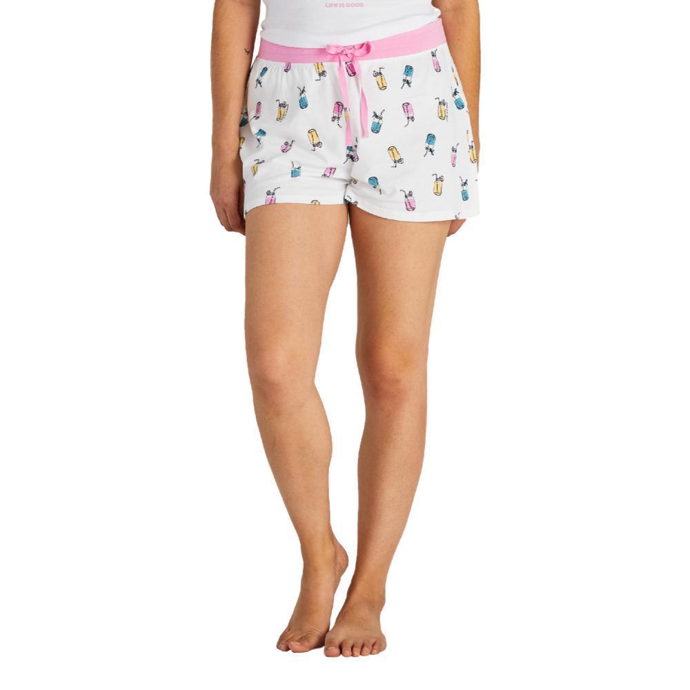 Life is Good Women's Refreshing Jars Print Sleep Shorts WHITEJARS