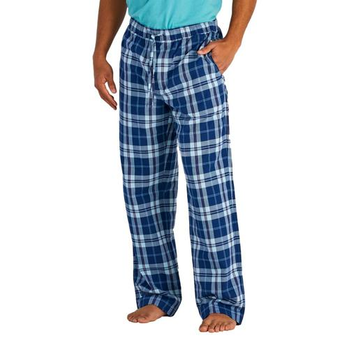 Life is Good Men's Darkest Blue Plaid Classic Sleep Pants Drkstbluepld