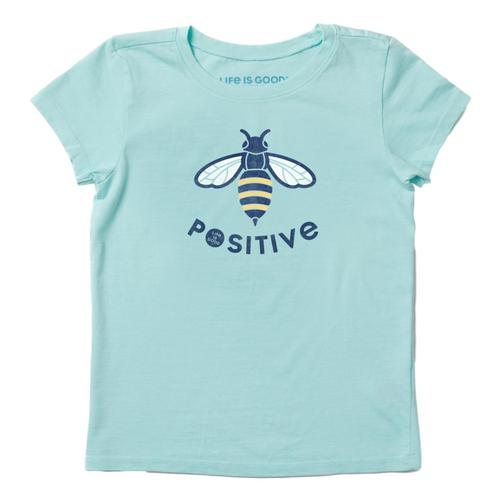 Life is Good Girls Bee Positive Crusher Tee Brmdablue