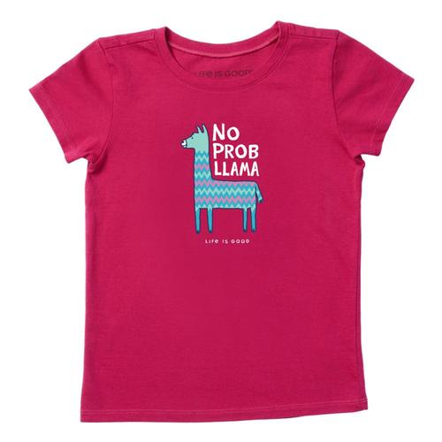 Life is Good Girls No Prob Llama Crusher Tee Sngriared