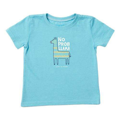 Life is Good Toddler No Prob Llama Crusher Tee Coastblue