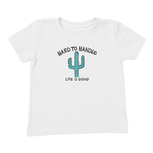 Life is Good Toddler Hard To Handle Crusher Tee Cloudwht