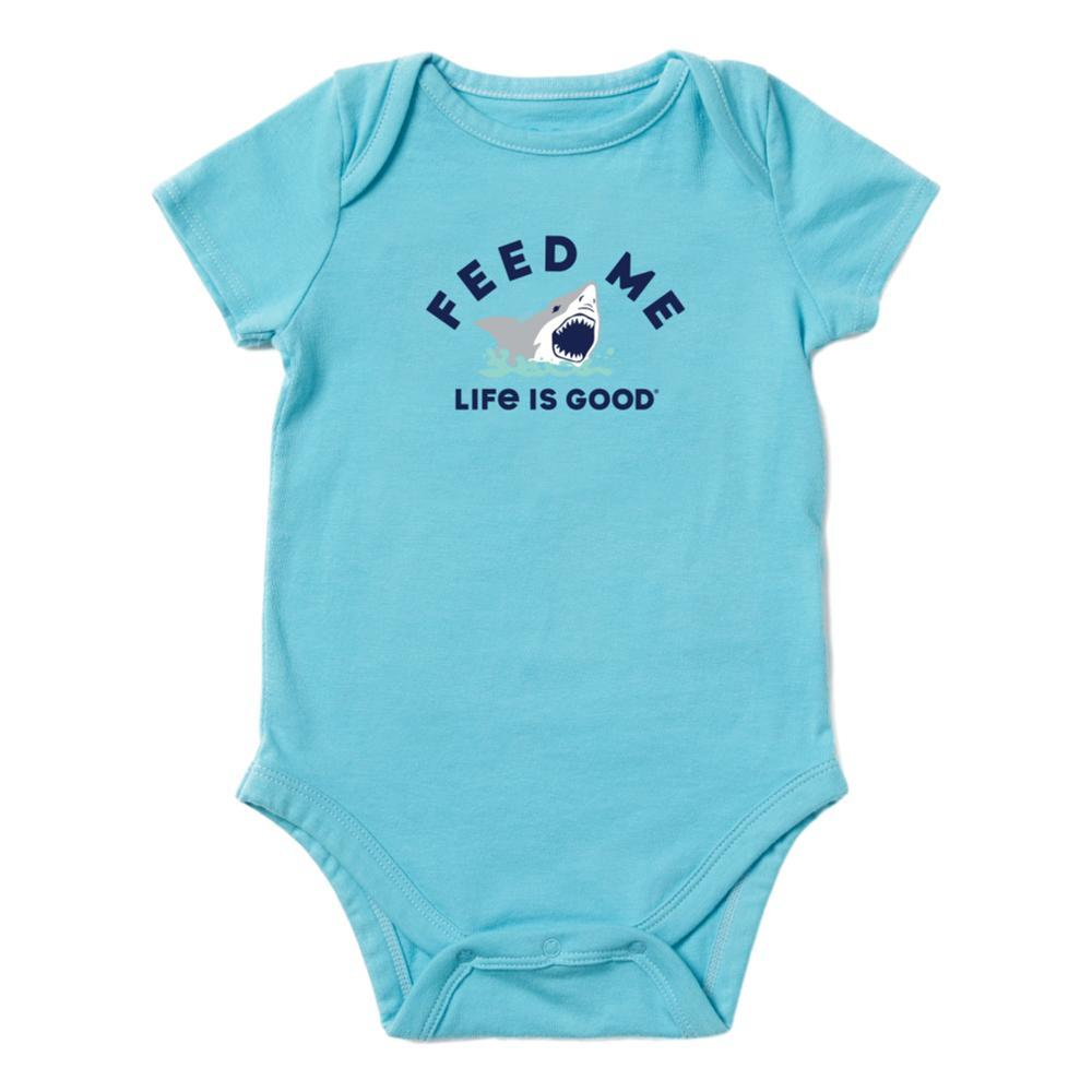 Life is Good Infant Feed Me Crusher Baby Bodysuit COASTBLUE