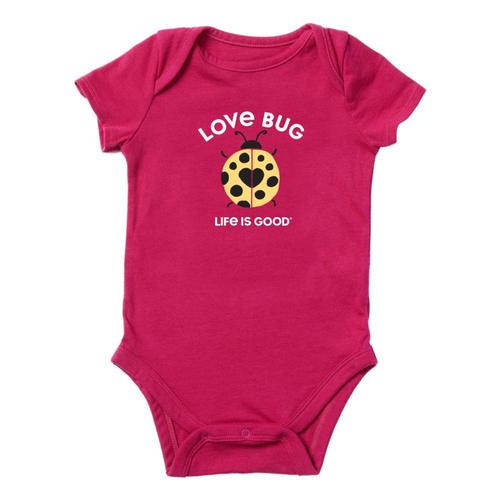 Life is Good Infant Lady Love Bug Crusher Baby Bodysuit Sngriared