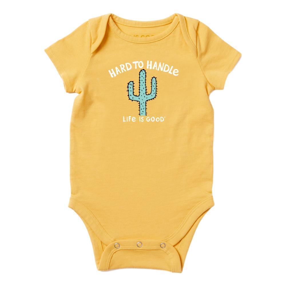 Life is Good Infant Hard To Handle Crusher Baby Bodysuit BAJAYELOW