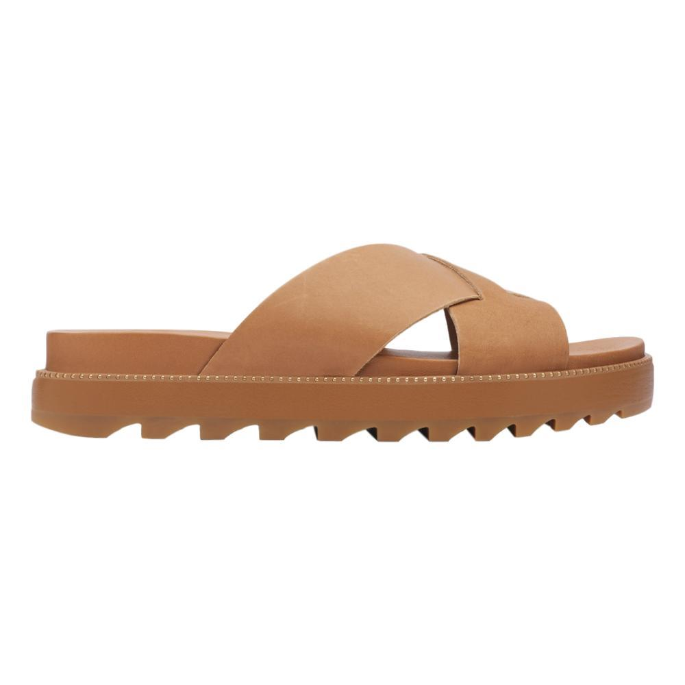 Sorel Women's Roaming Criss Cross Slides CAMEL_224