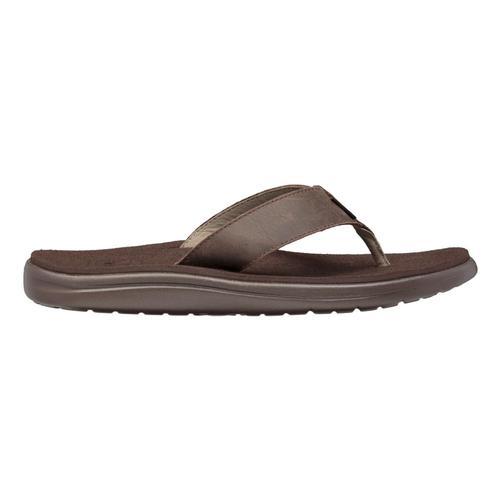 Teva Men's Voya Flip Leather Sandals Chocbrn_cobr