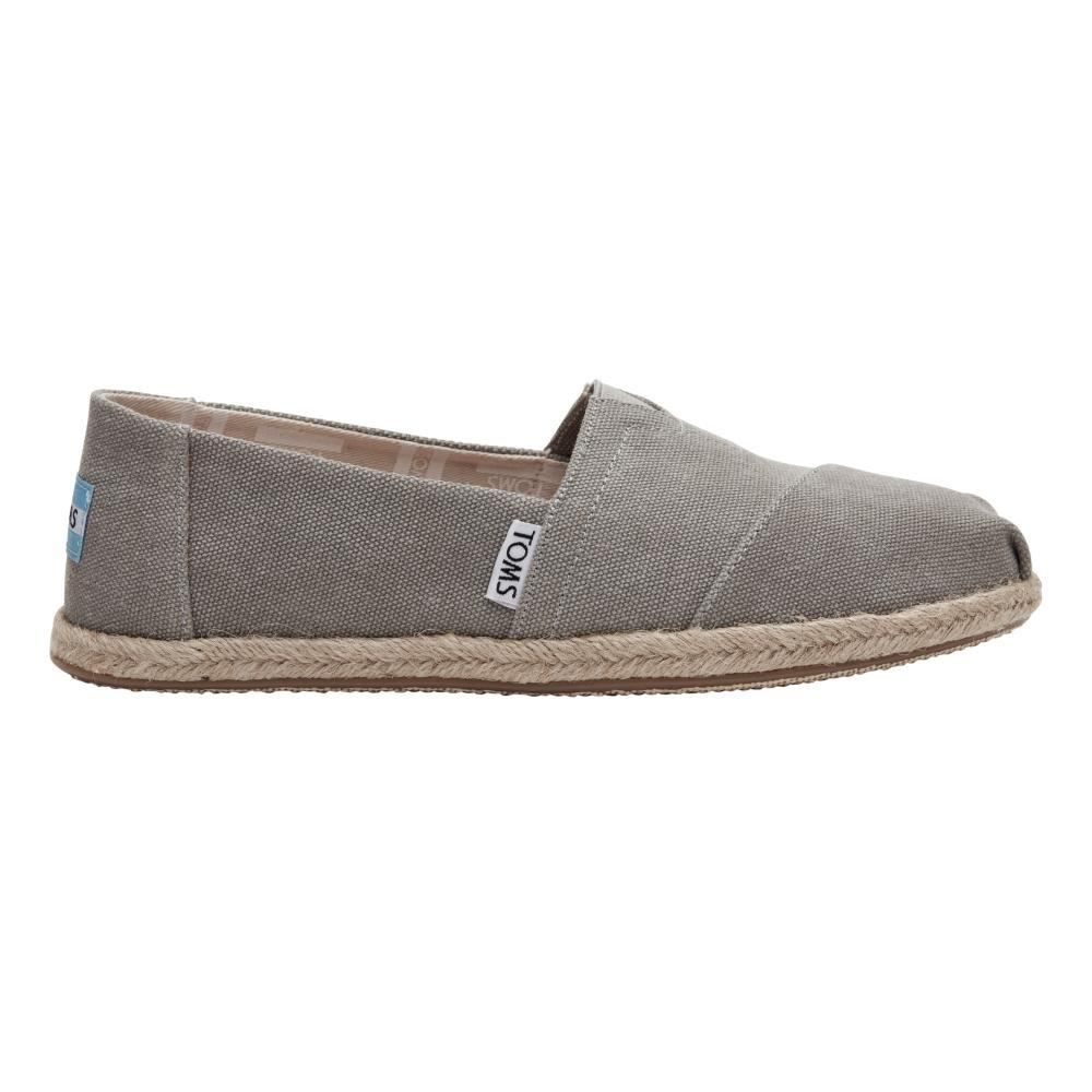 TOMS Women's Drizzle Grey Washed Canvas Espadrilles DRIZGRYWCANV