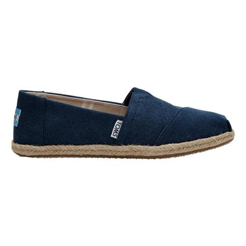 TOMS Women's Navy Canvas Espadrilles Nvywcanv
