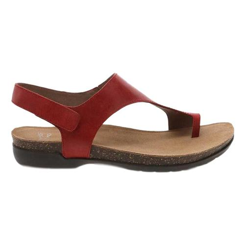 Dansko Women's Reece Sandals Red.Wx.Brns