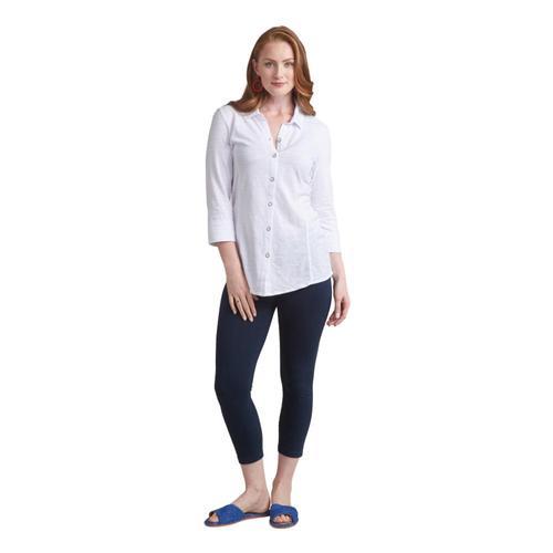 Habitat Women's Cotton Pebble Shaped Shirt White