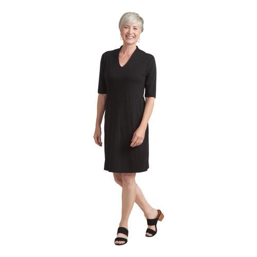 Habitat Women's V-Neck Pocket Dress Black