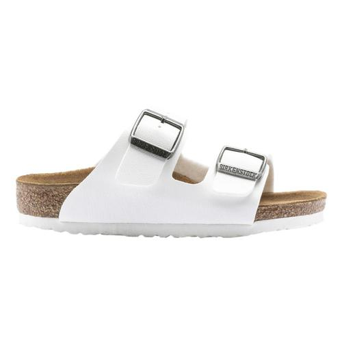 Birkenstock Girls Arizona Sandals White