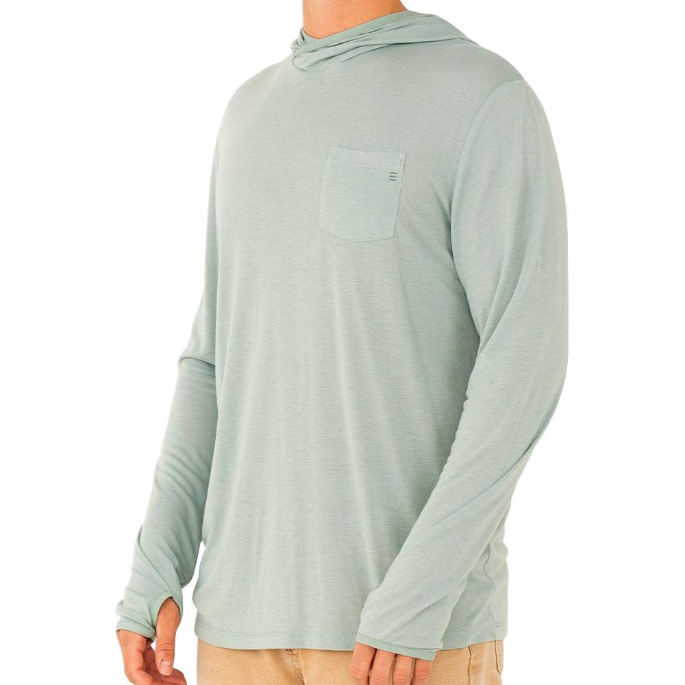 Free Fly Men's Bamboo Lightweight Hoody SEAGLASS112