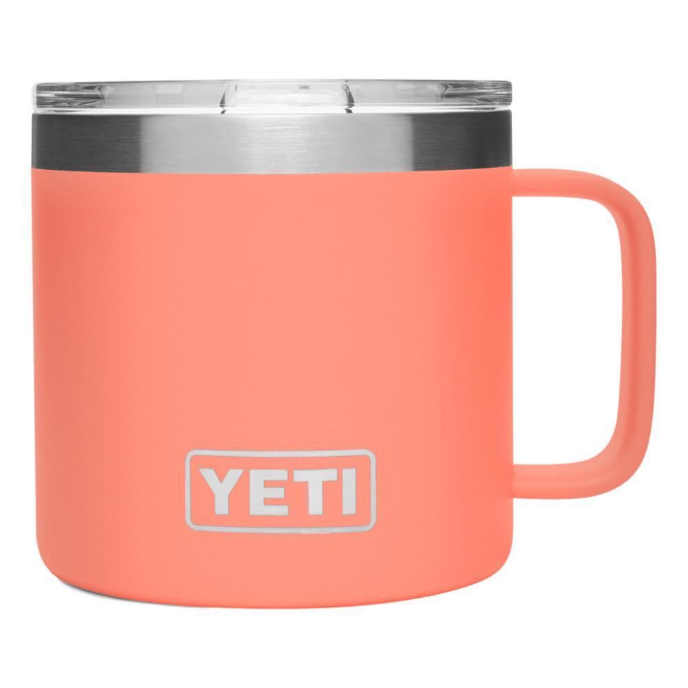 YETI Rambler 14oz Mug with Standard Lid CORAL